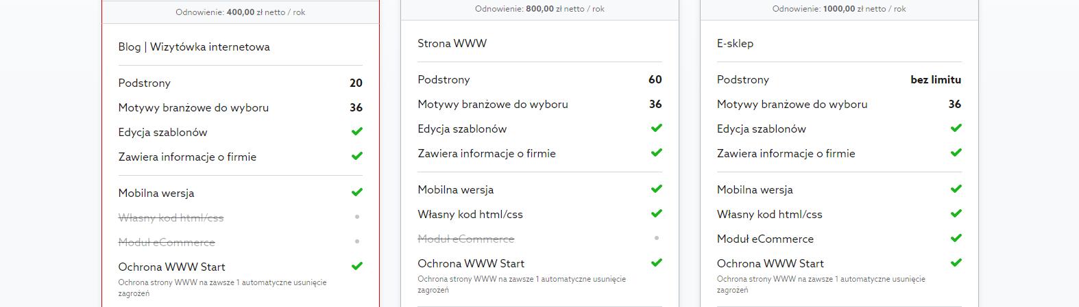 Kreator stron www Click Web (home.pl) - recenzja, możliwości, wady i zalety 1